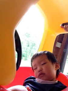 nap in the cozy coupe