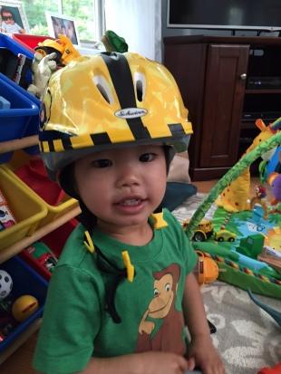 harrison in truck helmet